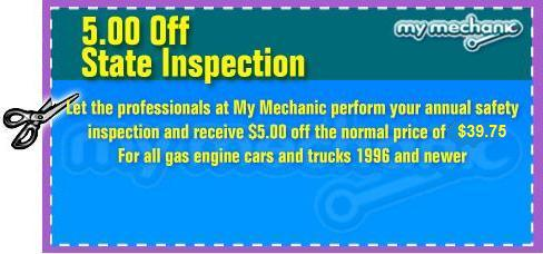 State Inspection Coupon >> 5 00 Off State Inspection Coupon My Mechanic Houston Car